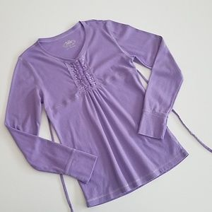 [Girl M/12]  Justice Tie-back Long-Sleeved Shirt